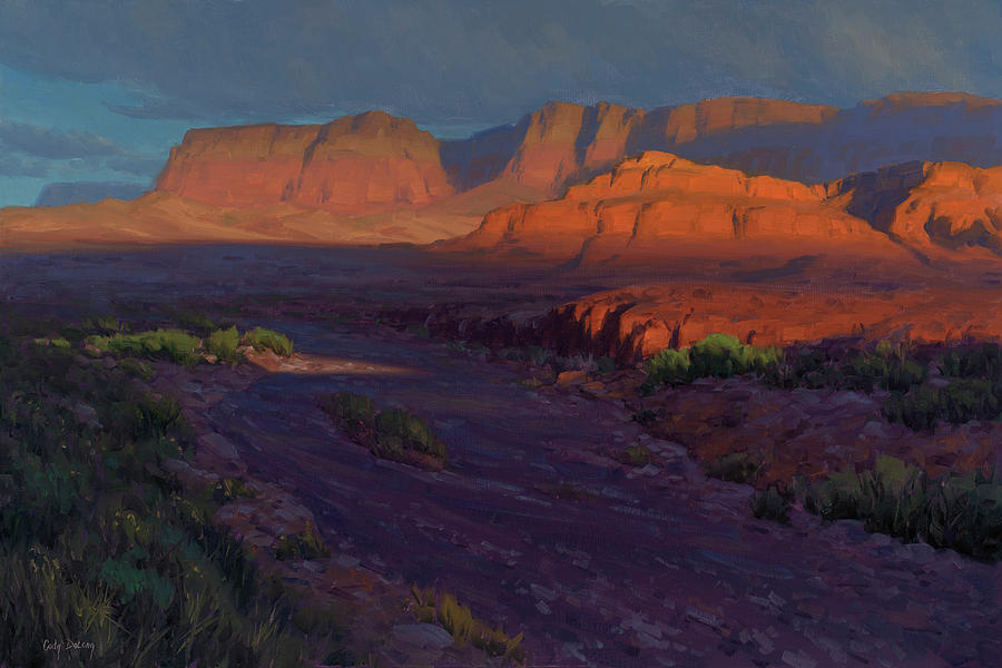 Western Landscapes Painting - Emerging 24x36 by Cody DeLong