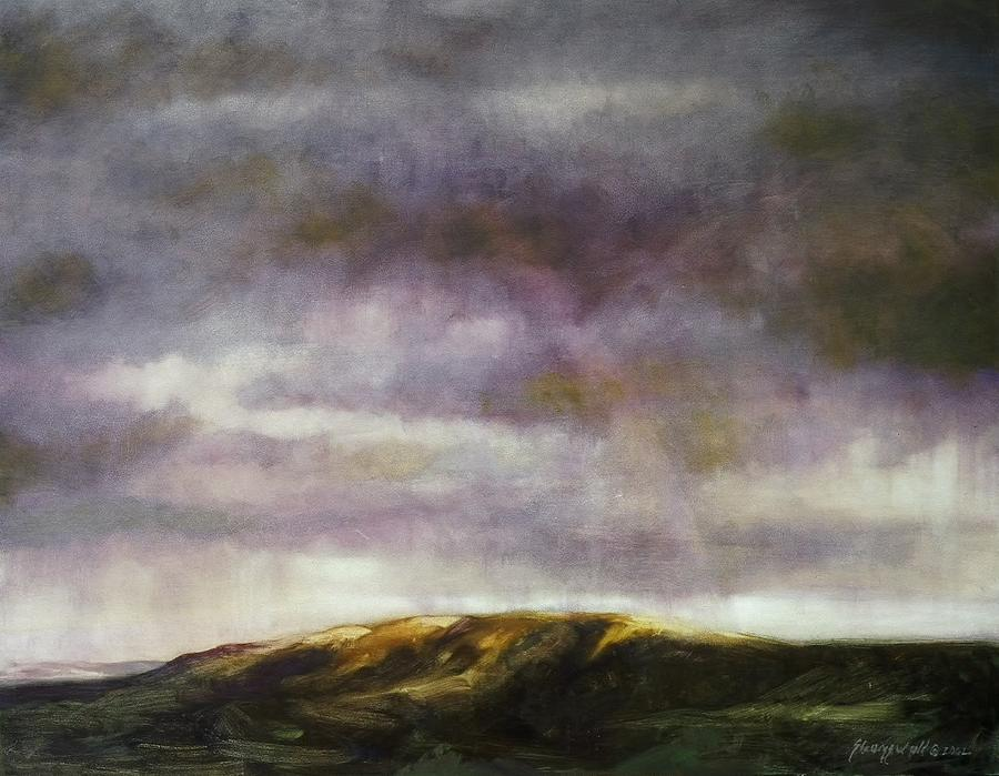 Mountain Landscape Painting - Emerging Bow by Ruth Stromswold