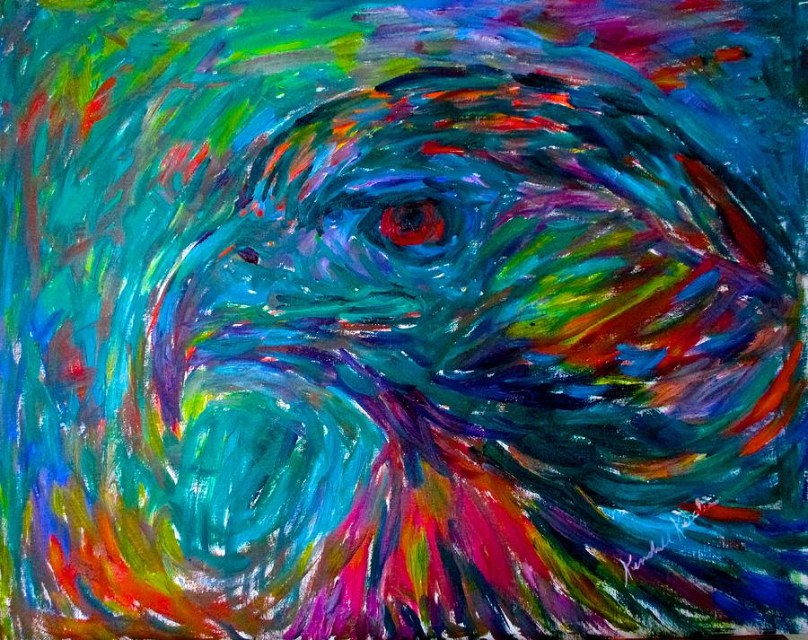 Birds Painting - Emerging Hawk Stage One by Kendall Kessler