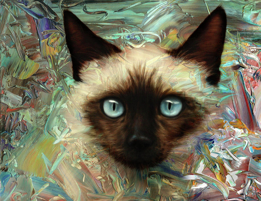 Cat Digital Art - Emerging Kitten by James W Johnson