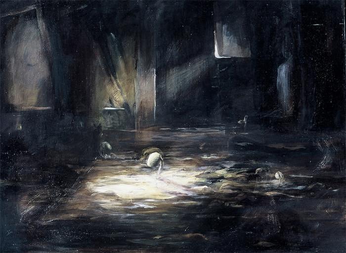 Realistic Painting - Emerging Seeds by Leela Logan