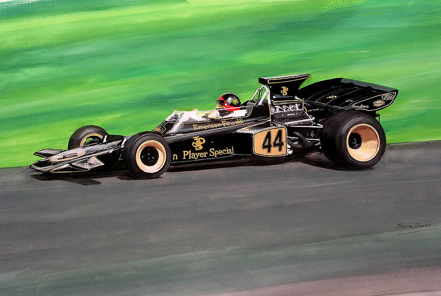 Emerson Fittipaldi Painting by Steve Jones