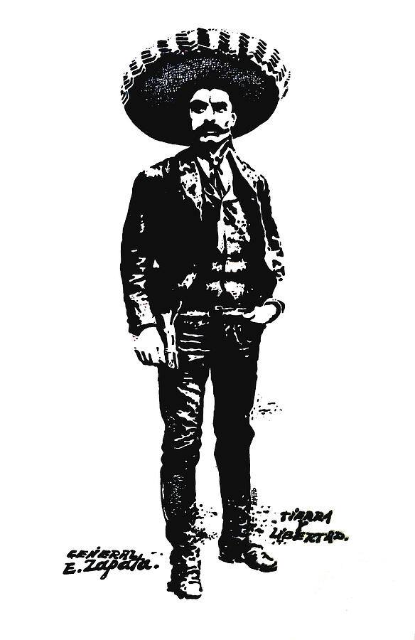 Drawing Drawing - Emiliano Zapata by Antonio Romero