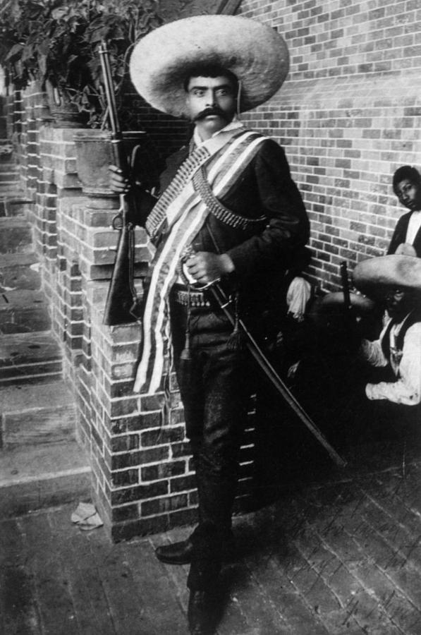 Ammo Belt Photograph - Emiliano Zapata Ca. 1879-1919, Mexican by Everett