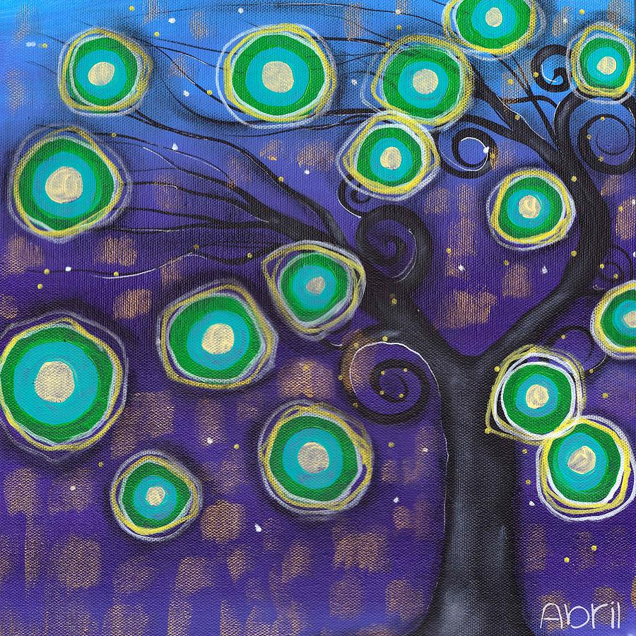 Whimsical Tree Painting - Emilio Tree by  Abril Andrade Griffith