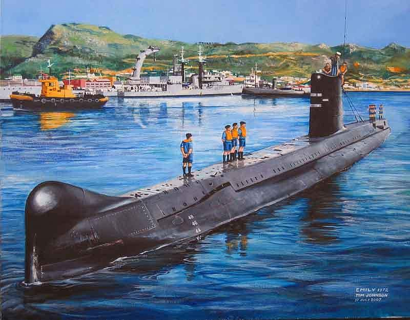 South African Navy Painting - Emily 1972 by Tim Johnson