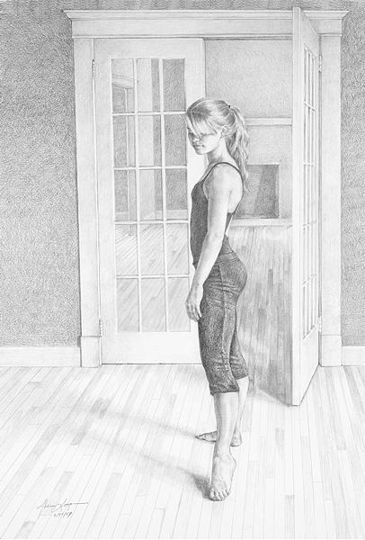 Figure Drawing - Emily by Alison Logan