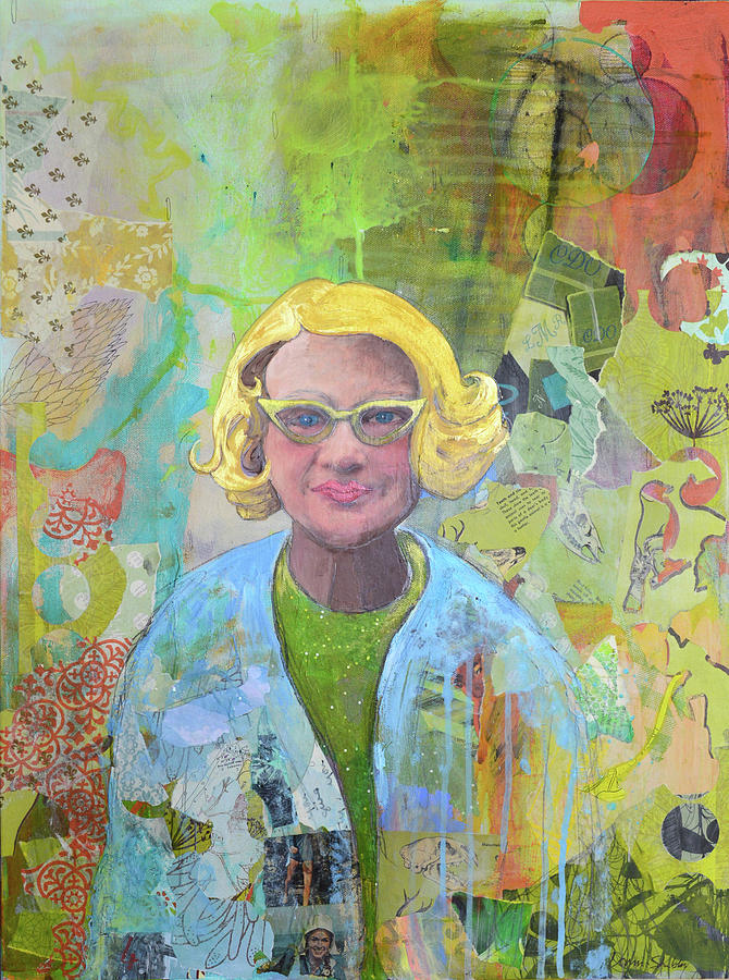 Portrait Mixed Media - Emily by Donna Stubbs