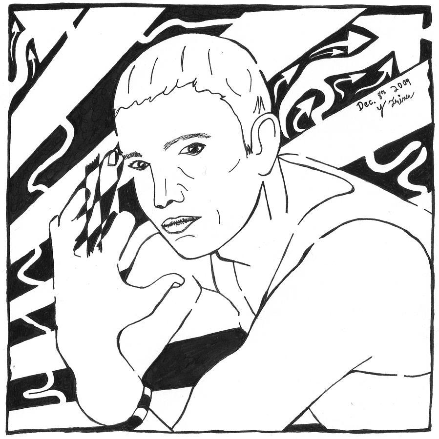 Eminem Painting - Eminemaze by Yonatan Frimer Maze Artist