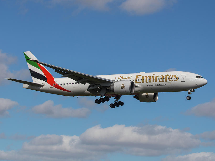 Emirates Air 777 Photograph by Dart Humeston