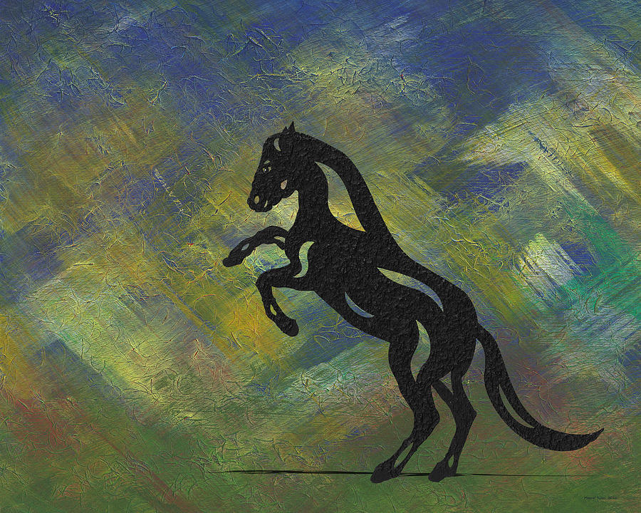 Emma - Abstract Horse by Manuel Sueess