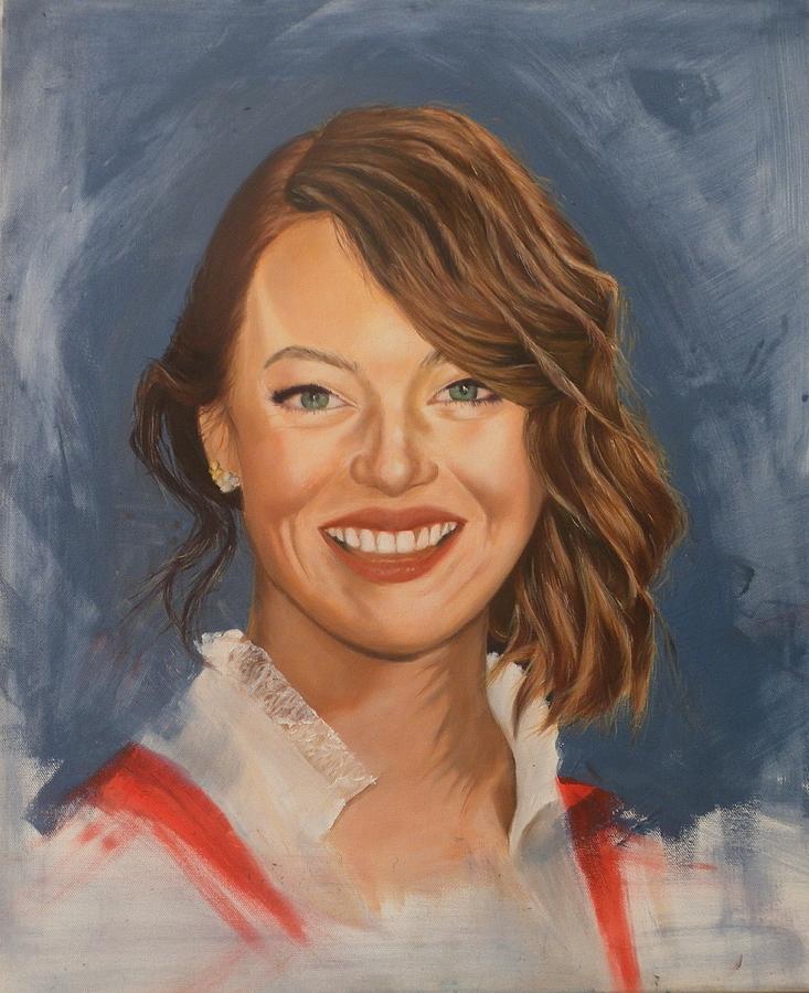 Emma Stone Painting