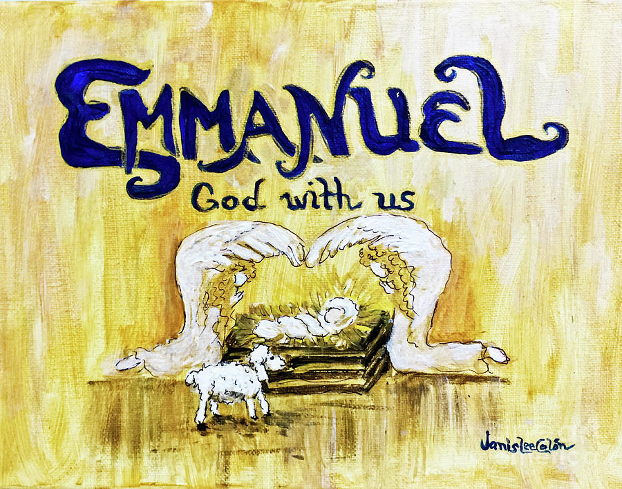 God With Us Painting - Emmanuel by Janis Lee Colon