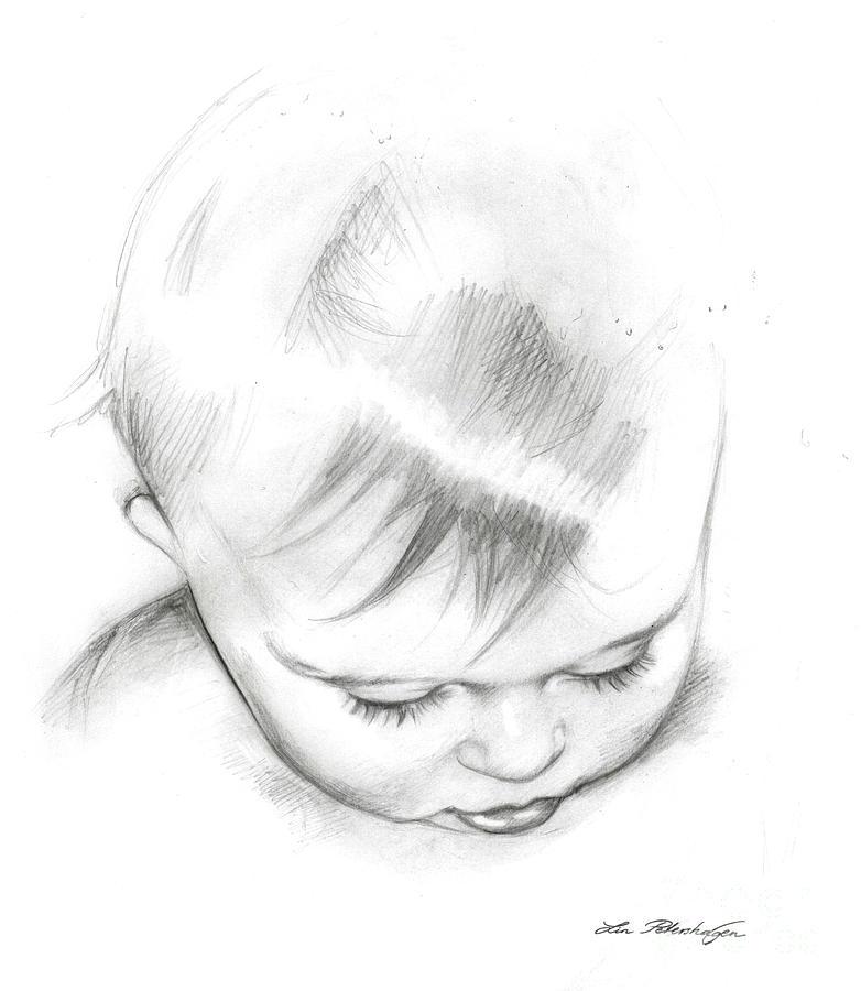 Baby Drawing - Emmeli by Lin Petershagen