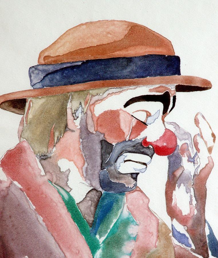 Emmett Kelly Painting - Emmett Kelly by Donna Baruchi
