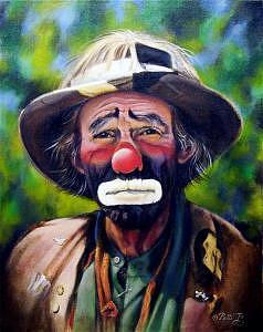 Clown Painting - Emmett Kelly Jr by Patti  Jo