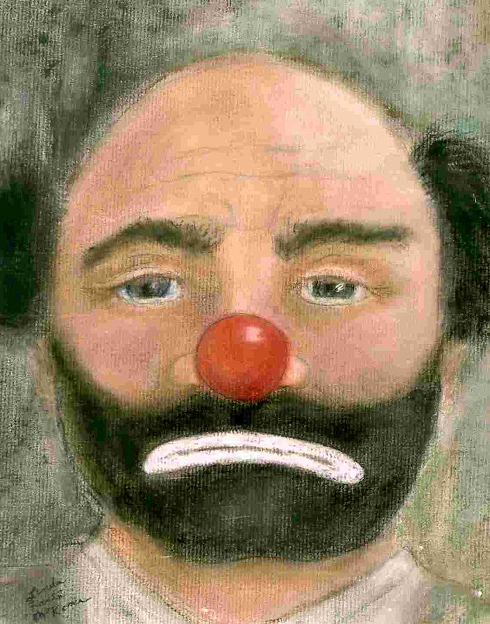Portrait Painting - Emmett Kelly Weary Willy by Linda McKenna
