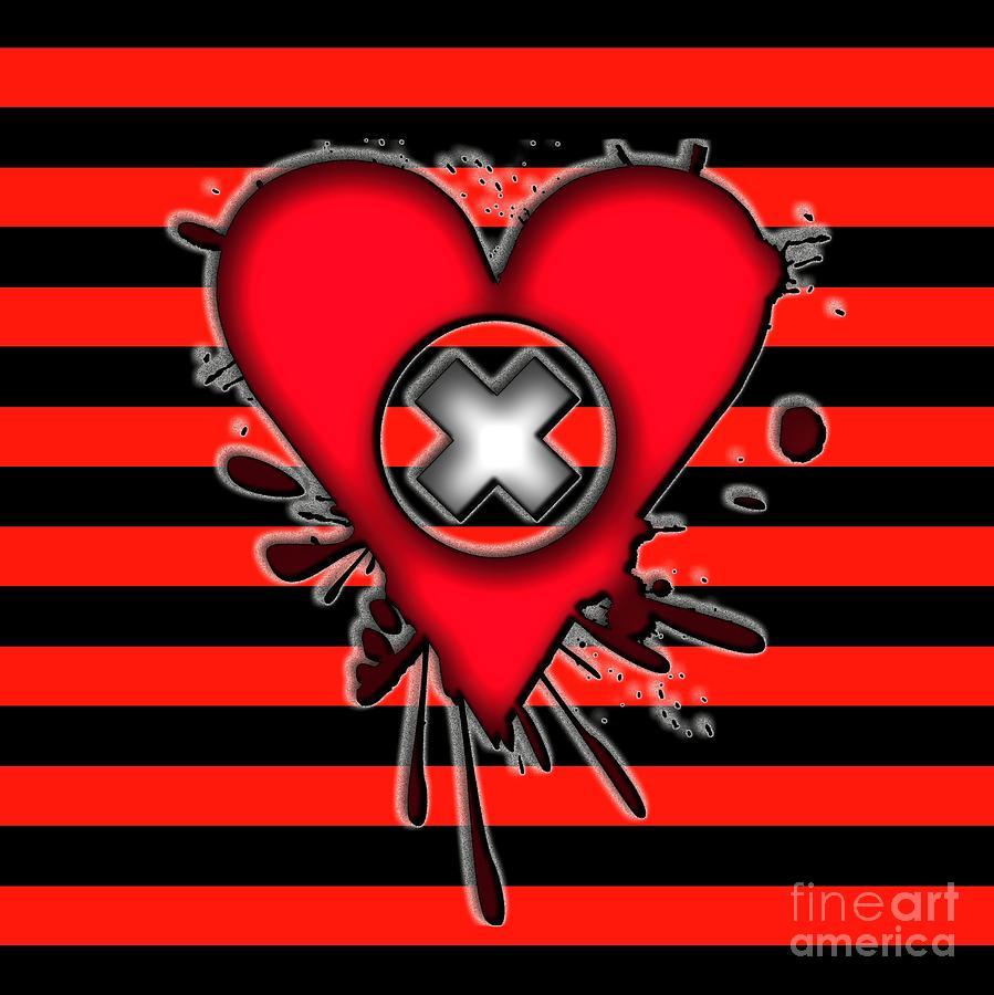 Emo Digital Art - Emo Love by Roseanne Jones