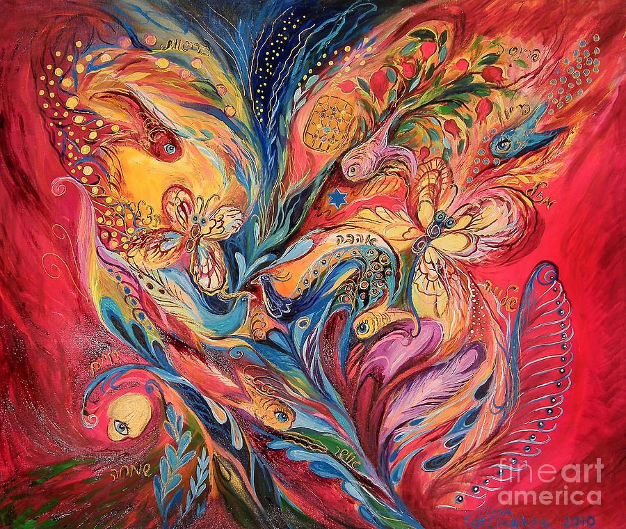 Original Painting - Emotion In Red by Elena Kotliarker