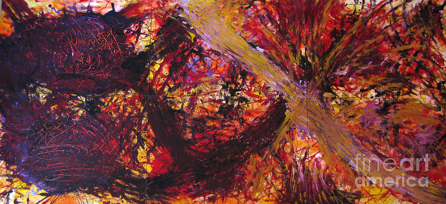 Expressionism Painting - Emotional Scars by Ckone