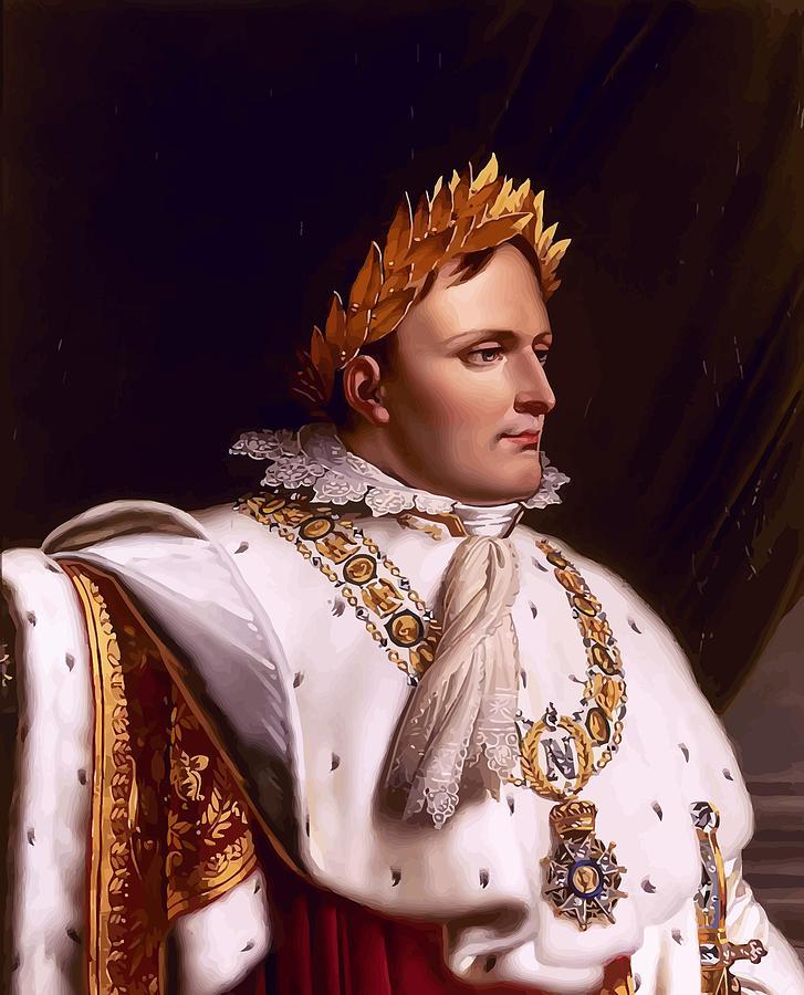 Napoleon Painting - Emperor Napoleon Bonaparte  by War Is Hell Store
