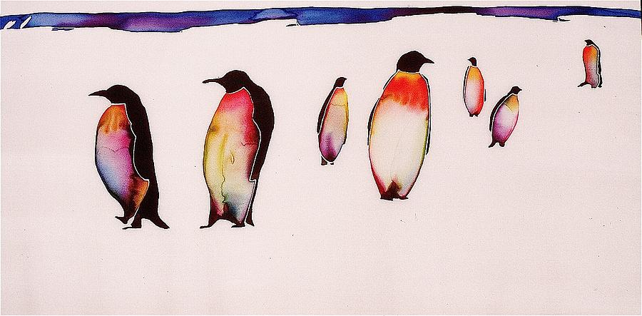Penguins Tapestry - Textile - Emperors On Ice by Carolyn Doe