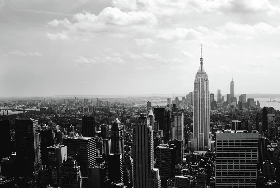Empire State Building black and white by Adriana Zoon