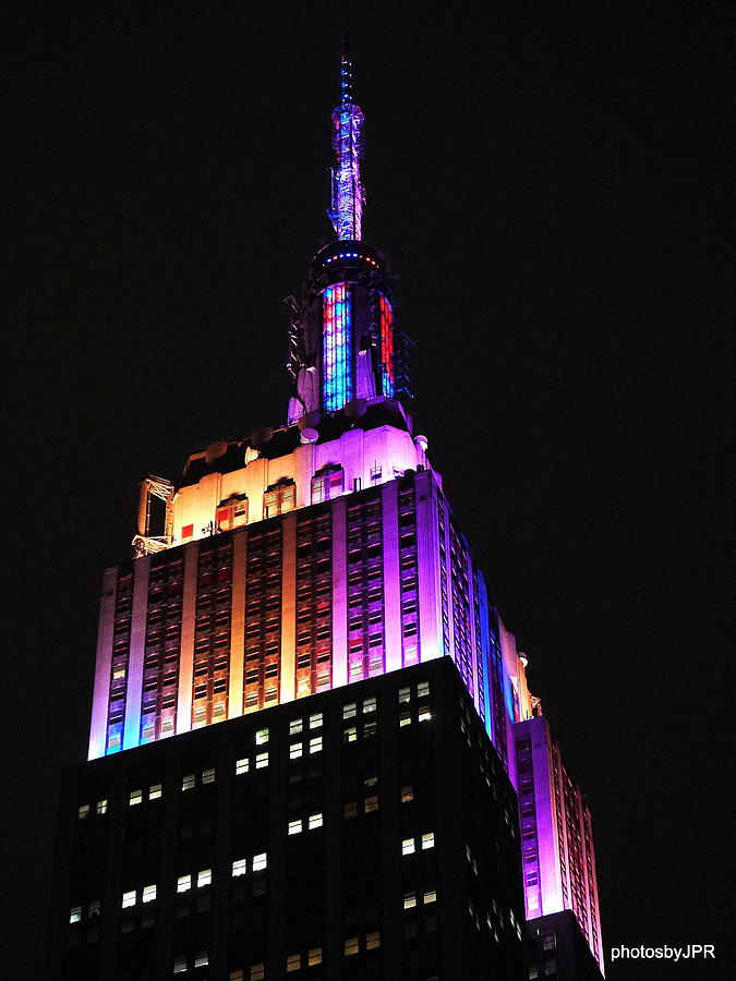 Empire State Building Photograph - Empire State Building In Pastel Color by Jack Riordan