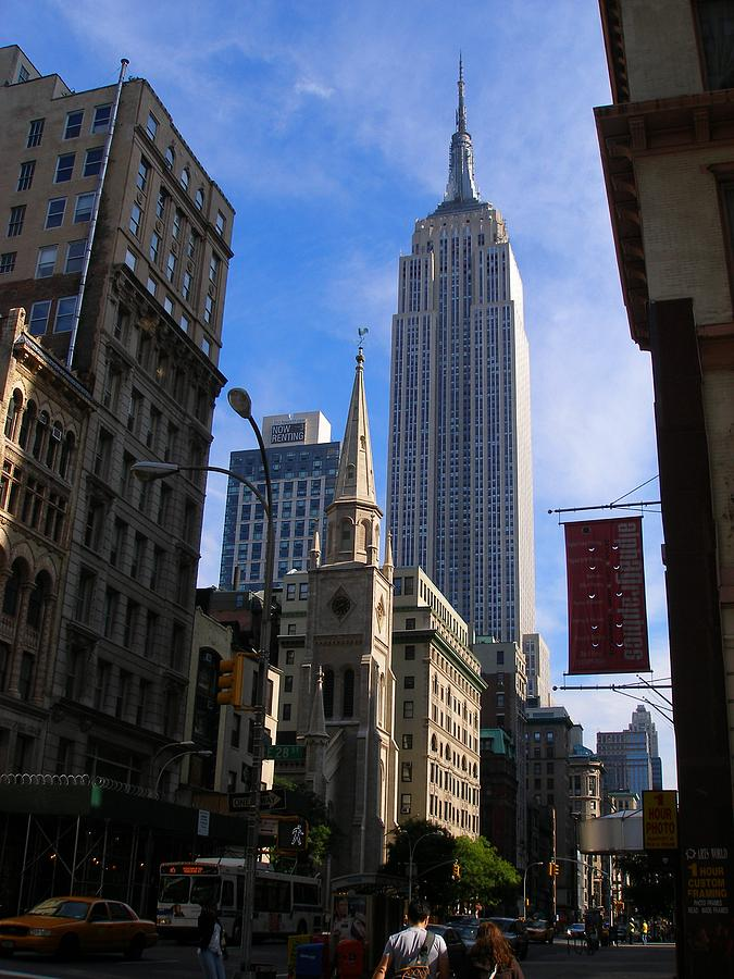 Portrait Photograph - Empire State Building-new York City-manhattan Skyline by Candace Garcia