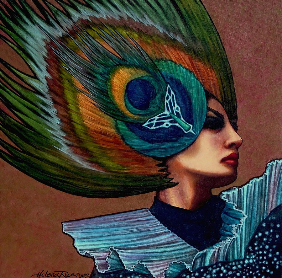 Woman Painting - Empowered Reflection by Helena Rose