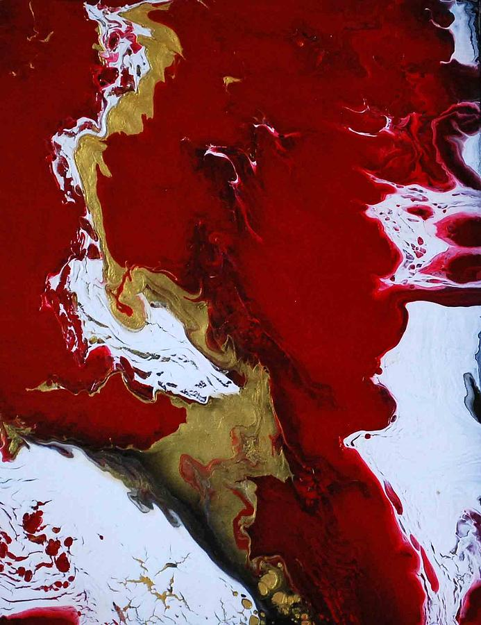 Red Painting - Empowered by Sonali Kukreja