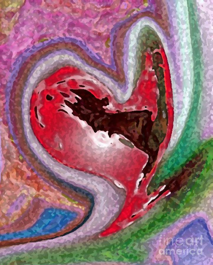 Heart Digital Art - Emptiness by Mimo Krouzian