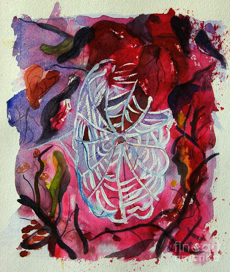 Abstract Painting - Empty Nest by Stephanie Allison