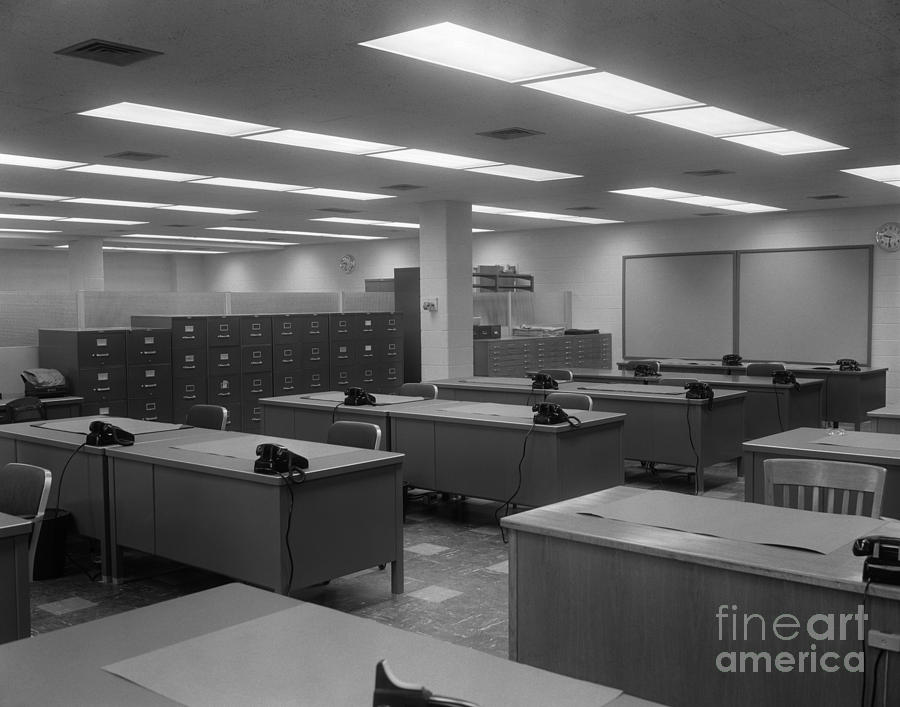 Empty Office C1950 60s Photograph By H Armstrong Roberts ClassicStock