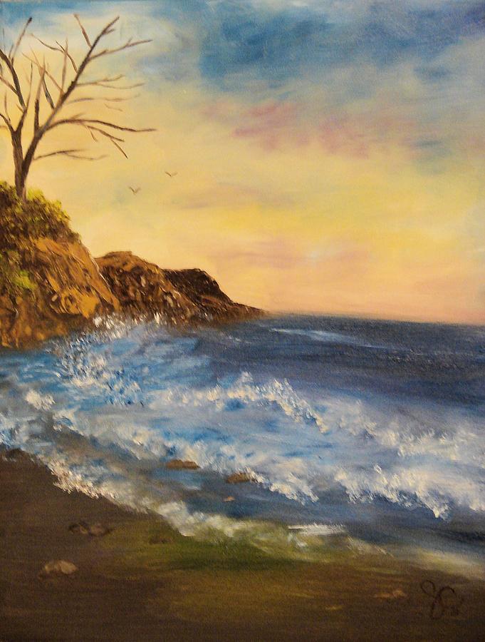 Seascape Painting - Empty Shore by Shiana Canatella