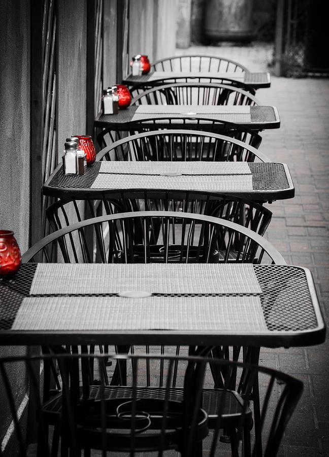 Empty Tables Photograph