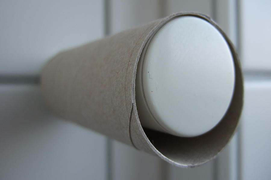 Toilet Paper Photograph - Empty Toilet Paper Roll by Matthias Hauser
