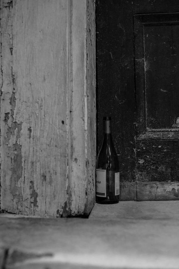 Big Easy Photograph - Empty Wine Bottle by Giovanni Arroyo