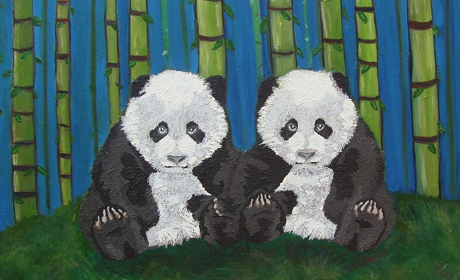 Giant Panda Painting - Empyrean Counterparts by Amy Pugh