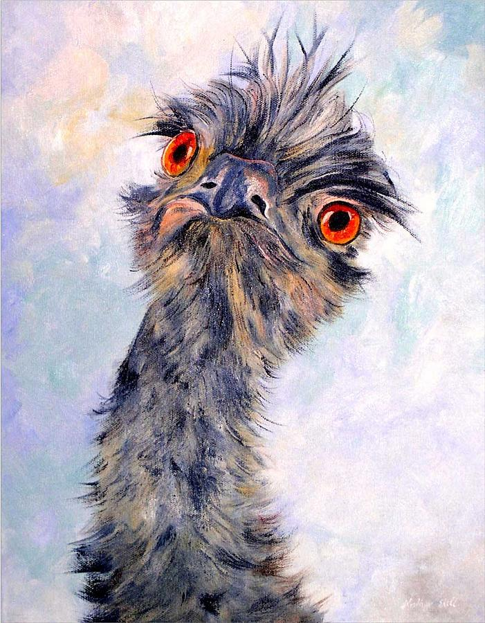 Emu Painting - Emu Twister by Ryn Shell