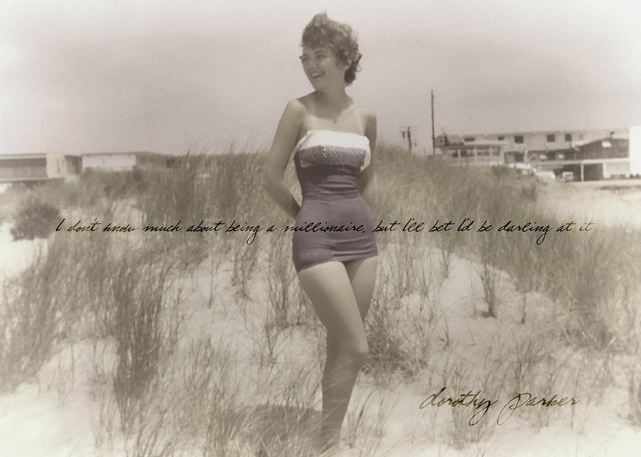Vintage Photograph - Emulating Marilyn Quote by JAMART Photography