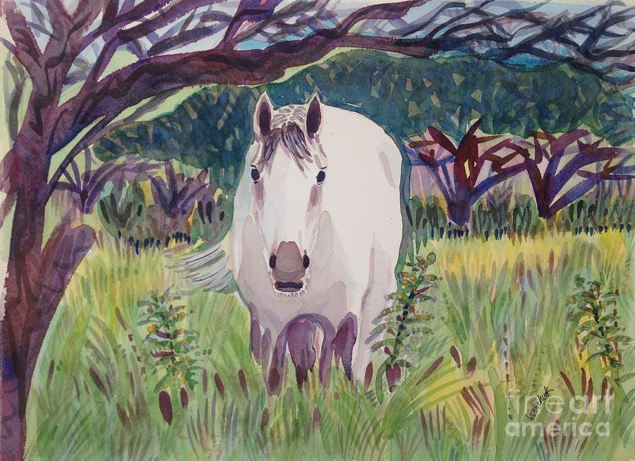 Horse Painting - En El Bosque by Virginia Vovchuk