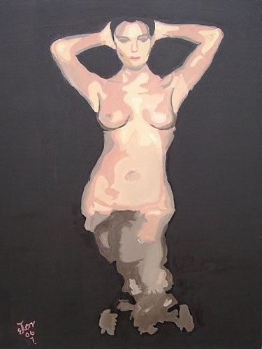 Nude Painting - En El Sena by Hector Olvera