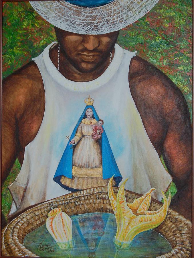 En El Sombrero Painting by Arnaldo Ladron de Guevara