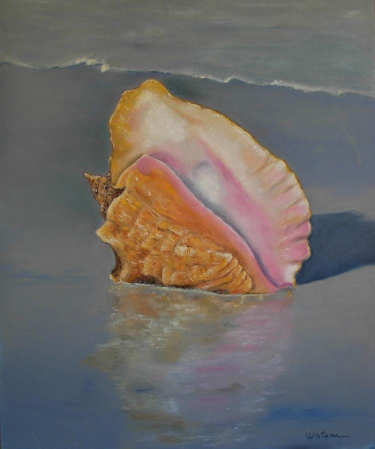 Ocean Painting - en memoria de Alfonsina Storni by Ceci Watson