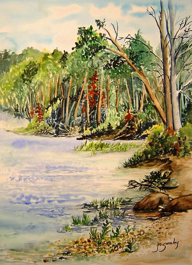 Water Painting - En Plein Air At Otter Falls Boat Launch by Joanne Smoley