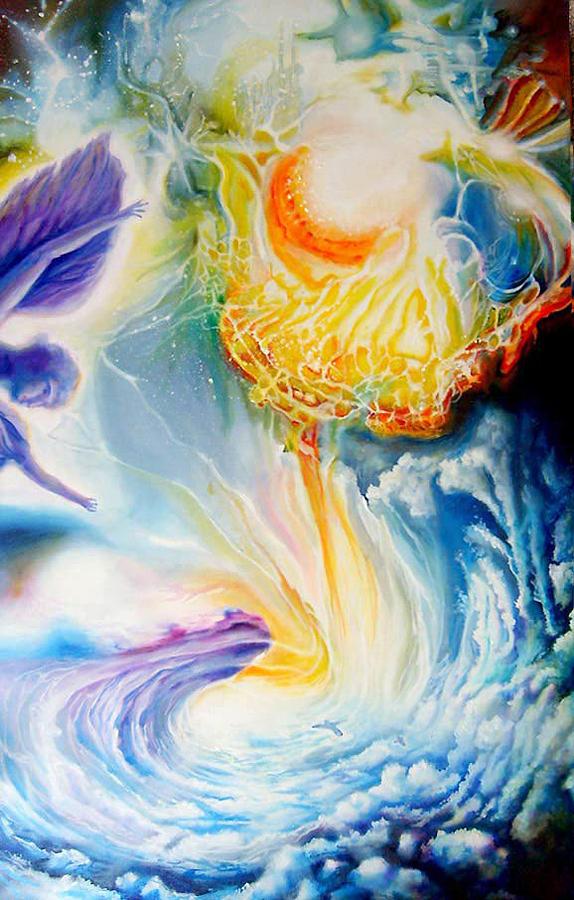 Cosmic Painting - En Route To A Celebration by Leonard Aitken