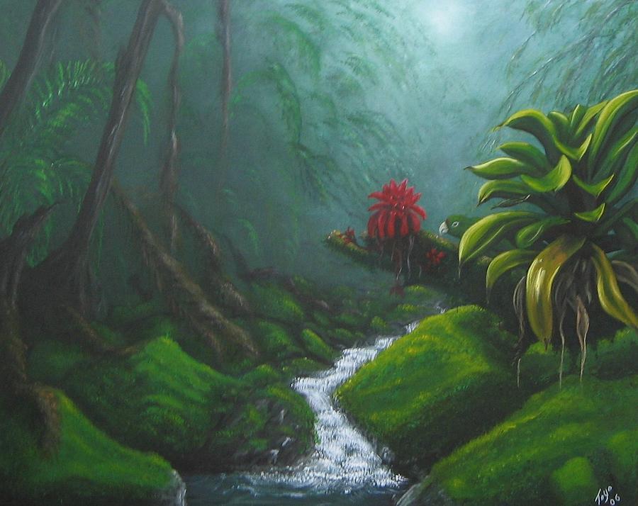 Bosque Painting - Encantos Del Bosque by Toyo Perez