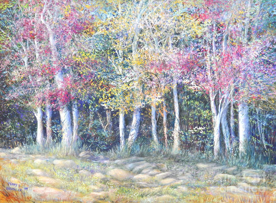 Fall Colors Painting - Enchanced Tree Pageant by Penny Neimiller