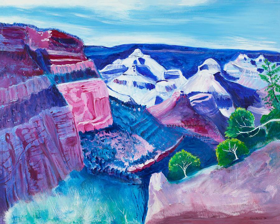 Enchanted Canyon  24x30 by Santana Star